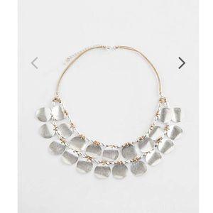 J.jill mixed-metal - disks statement necklace